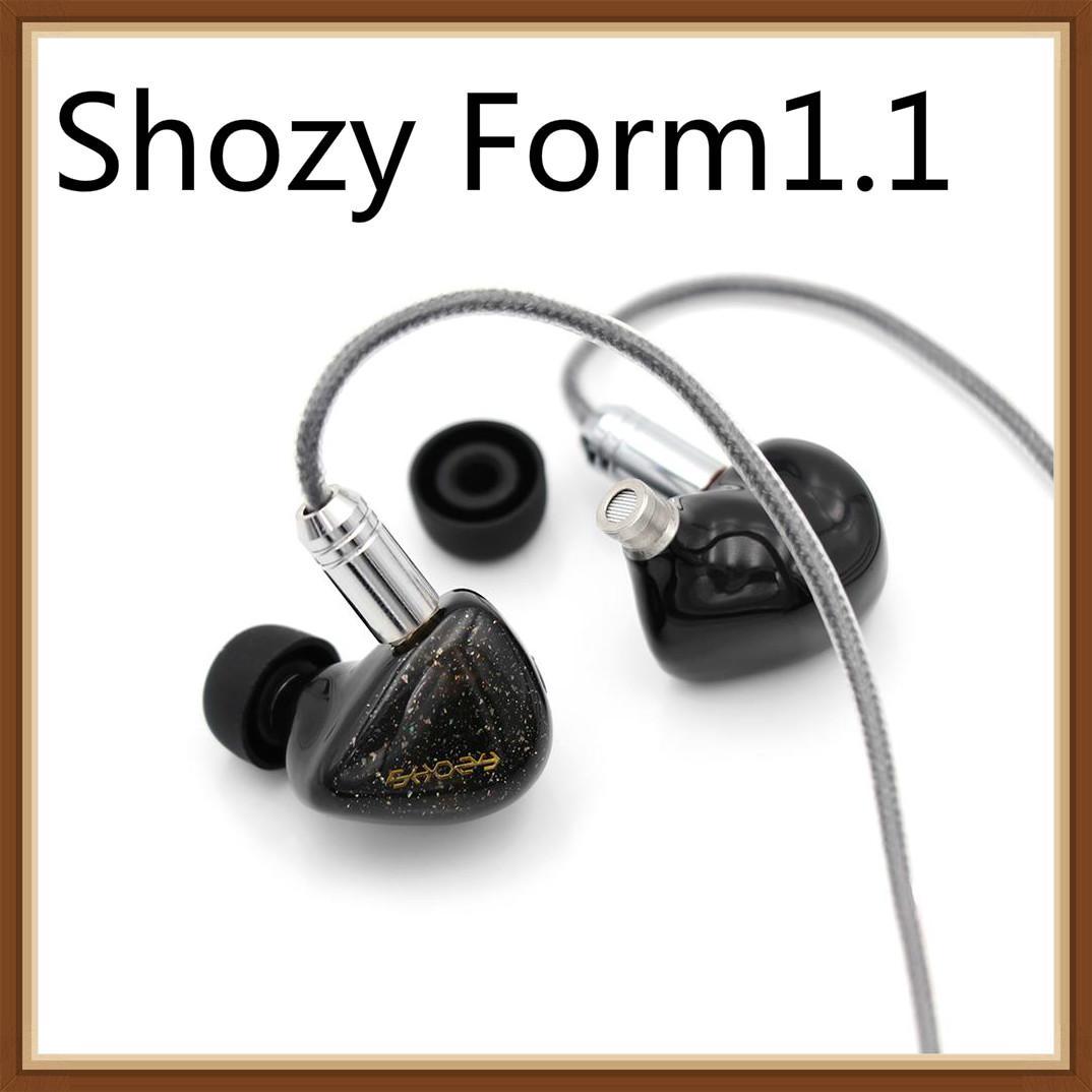 2019 Shozy Form1.1 1BA+1DD Dual Driver Hybrid Beryllium Dynamic Hifi Music Monitor In-ear Earphones Detachable 0.78 2Pin Earbuds