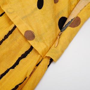Image 3 - Echoine נשים ארוך מקסי שמלה מנוקדת גדול רופף מזויף שני חלקים כותנה פשתן שמלת סתיו בתוספת גודל נשית קיצית clothings