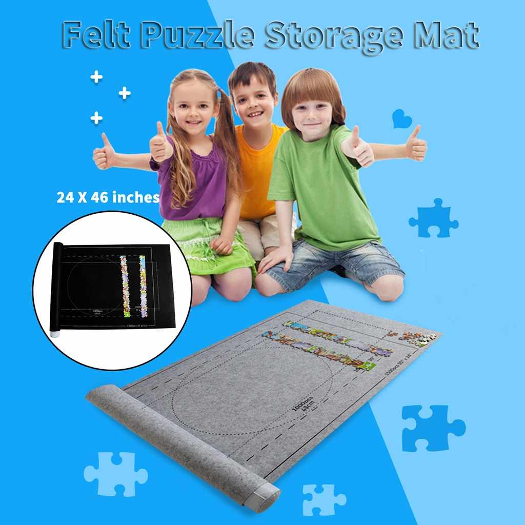 Puzzle Zerbino Puzzle Rotolo Feltro Zerbino Puzzle Coperta Per Un Massimo di 1500 Pcs Di Puzzle Accessori Nuovo Portatile di Viaggio Sacchetto di Immagazzinaggio gioco Zerbino