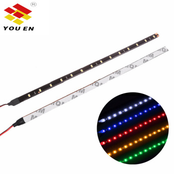 YOUEN 2pcs/set 30cm 15LED Waterproof Flexible Car Truck Grill Light Strips Trunk Decorative Lamp LED Strip Light Car Styling image