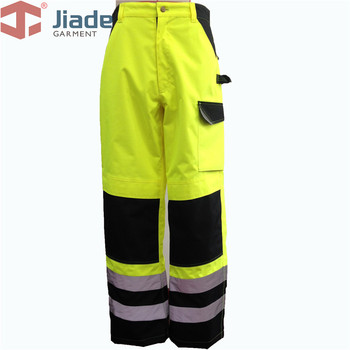 Hi Vis Yellow Work Pants Safety Reflective Work Wear Work Trousers High Visibility Workpants