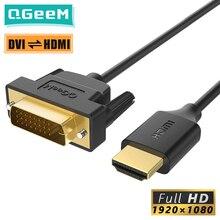 QGeeM – adaptateur de câble HDMI vers DVI, DVI Bi, pour Xiaomi Xbox séries X PS5, PS4, boîtier TV, répartiteur DVI vers HDMI, 24 + 1