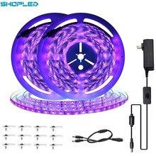 SHOPLED UV Led Strip 5050SMD 10M Tape Light Diode DV 12V Lights Decoration For Wall Living Room Backlight Lighting