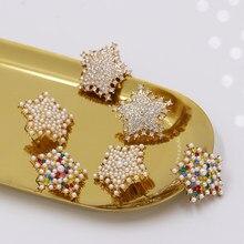 JUJIA – boucles d'oreilles en strass pour femmes, bijoux de luxe, à la mode, imitation perle étoile, vente en gros