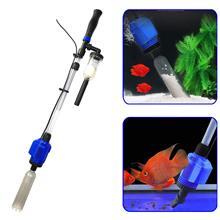 3 في 1 الكهربائية حوض السمك فراغ الحصى نظافة التلقائي مغير المياه الحمأة النازع ماكينة تنقية الرمال تصفية المياه للأسماك