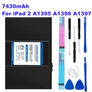 LOSONCOER Battery Stickers A1396 iPad 7430mah for 2-a1395/A1396/A1397/..