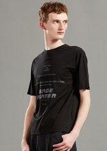Мужская футболка с коротким рукавом круглым вырезом и принтом
