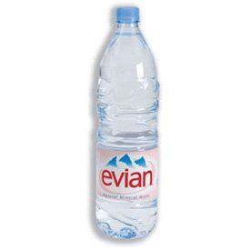 Bouteilles plastiques EVIAN 1,5 litre S2000