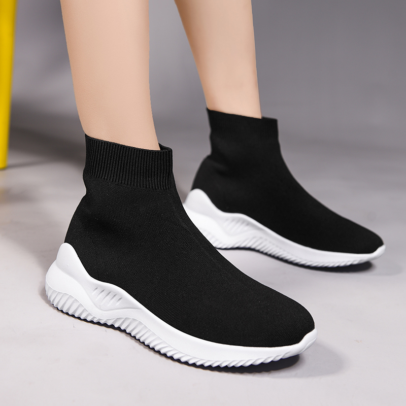 Women Shoes Casual Breathable Luxury Sneakers Socks Shoes Women Designer Light Scarpe Donna Tenis 2019 Fashion Zapatos De Mujer
