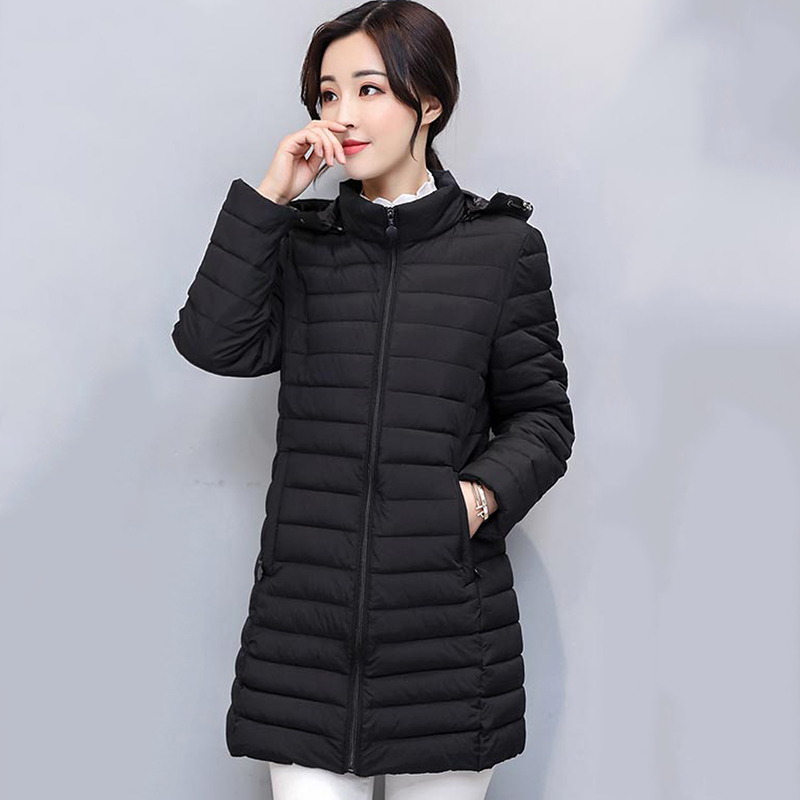 Fashion Winter Coat Women Jackets Thick Down Parkas Big Fur Hooded New Cotton Long Coats Warm Windbreaker Female Outwear Coat