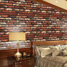 Self Adhesive Wallpaper PVC Waterproof Stone Wallpapers Brick Wall Paper Wall Stickers Bedroom Decor 45x100CM(China)