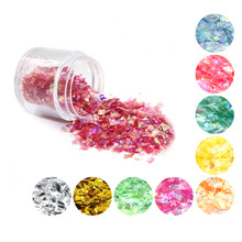 Shell Glitter Powder Cellophane Paper Nail Sequins For UV Resin Epoxy Mold Filling DIY Crafts Jewelry Making Nail Art Decoration
