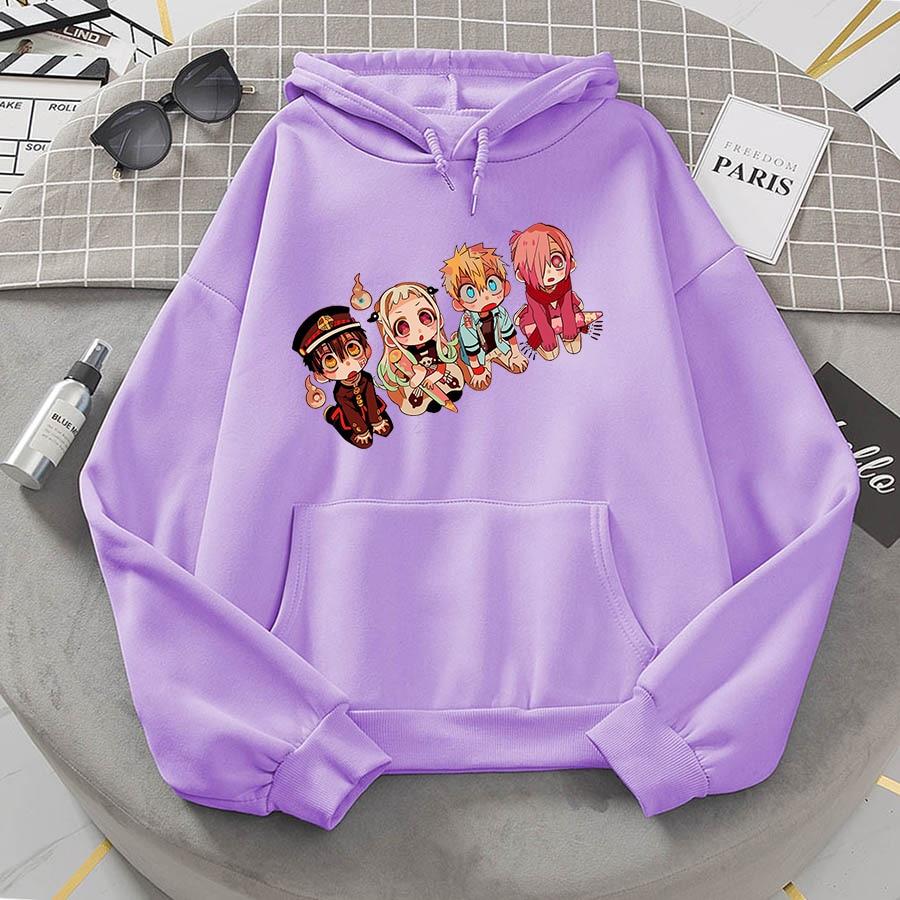 Jibaku Shounen Hanako kun Harajuku Womens Hoodie Fashion Fleece Hoodies Casual Clothes Street Loose Female Sweatshirt 26