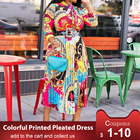 Colorful Printed Dre...