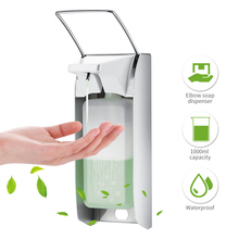 Elbow Hand Sanitizer Soap Dispenser Aluminum Disinfectant Soap Dispensers Wall 1000ml Hand Spray Alcohol Hospital Medical