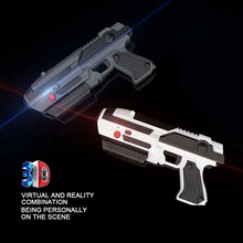 VR Game AR GUN Shooting Game Smartphones Bluetooth Control Toy for IOS Android Air Guns Black&Grey neje st0008 1 ghost hunting shooting interactive laser gun shooter toy light grey black