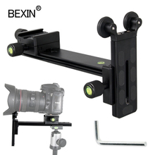 L200 soporte de teleobjetivo, accesorios de soporte de teleobjetivo, adaptador de montaje para lentes, pista deslizante para dslr, rótula de trípode de cámara