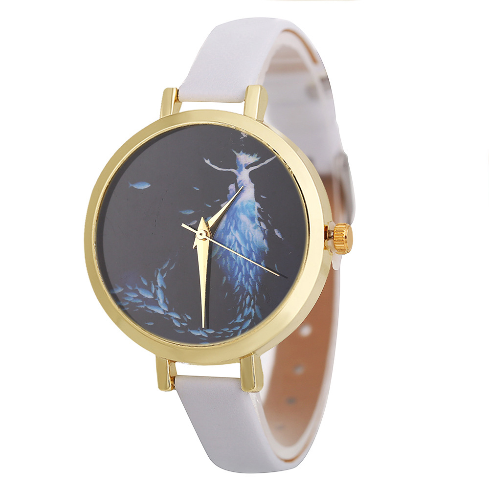 POFUNUO New Arrive Womens Fashion Luxury Watches Quartz Leather Band Wristwatch Unisex Popular Clock Gift-in Women's Watches from Watches