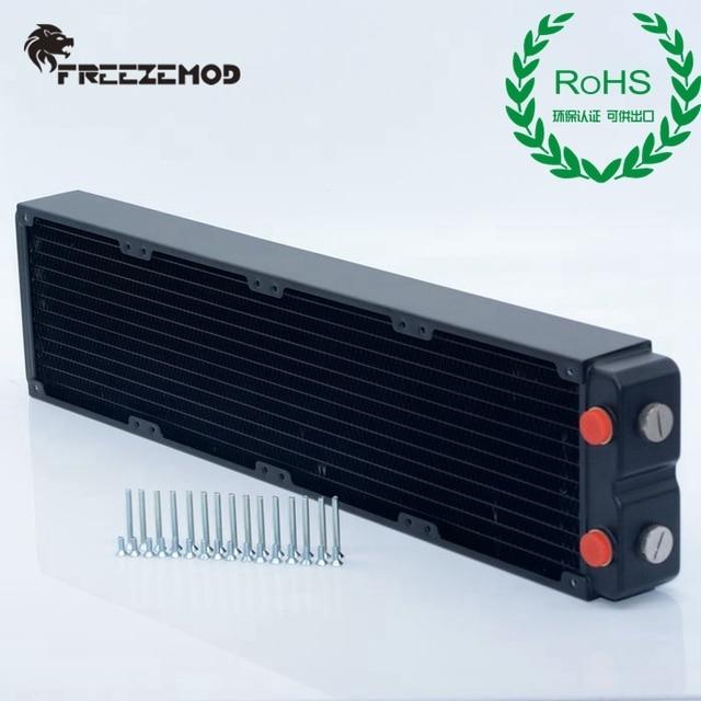 FREEZEMOD компьютер ПК водяной охладитель медный радиатор двухслойный 45 мм толщиной медные плавники G1/4 ROHS сертификация.