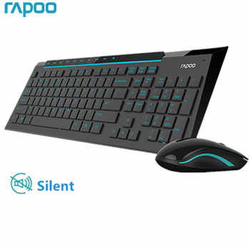 Rapoo Multimedia Wireless Keyboard Mouse Combos with Fashionable Ultra Thin Whaterproof Silent Mice for Computer PC Gaming TV - DISCOUNT ITEM  51 OFF Computer & Office