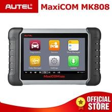 Autel maxicom mk808 obd2 스캐너, 오일 리셋, epb, bms, sas, dpf, tpms, 키 프로그래밍 (md802 + maxicheck pro) pk mx808