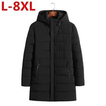high quality Plus Size 8XL 7XL Pocket Zipper Design Men Jacket winter New Arrival Casual Fashion Parka Cotton Coat Keep warm(China)