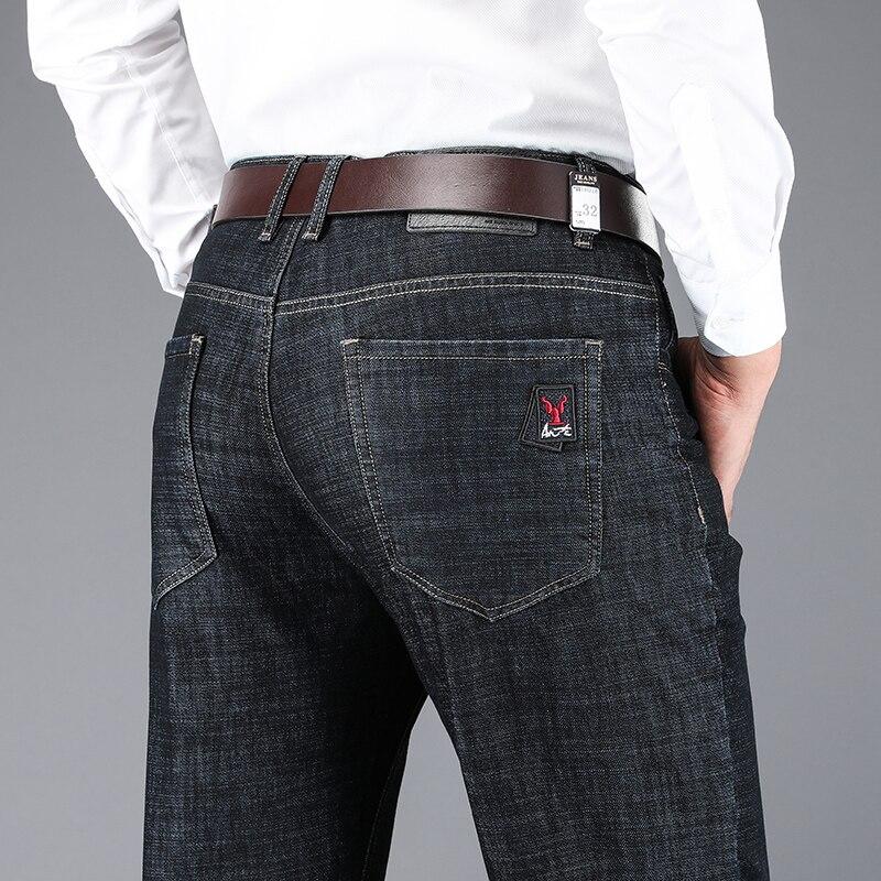 Black Jeans Spijkerbroeken Heren Pants Baggy Slim Fit Trousers Denim Pantalones Hombre High Quality Soft Fashion Business Casual