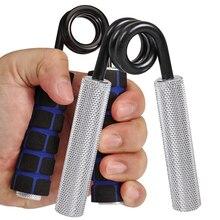 Губка Тяжелая рукоятка палец захват руки тренажер для мышц пресса расширитель Фитнес Профессиональный сила запястья Алюминий ручка серебр...