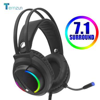 NEW K1 Head-Mounted Professional Gaming Headset RGB Colorful Lighting Mic PC Phone For PS4 XBOX Switch Gamer Wired Headphone USB 1