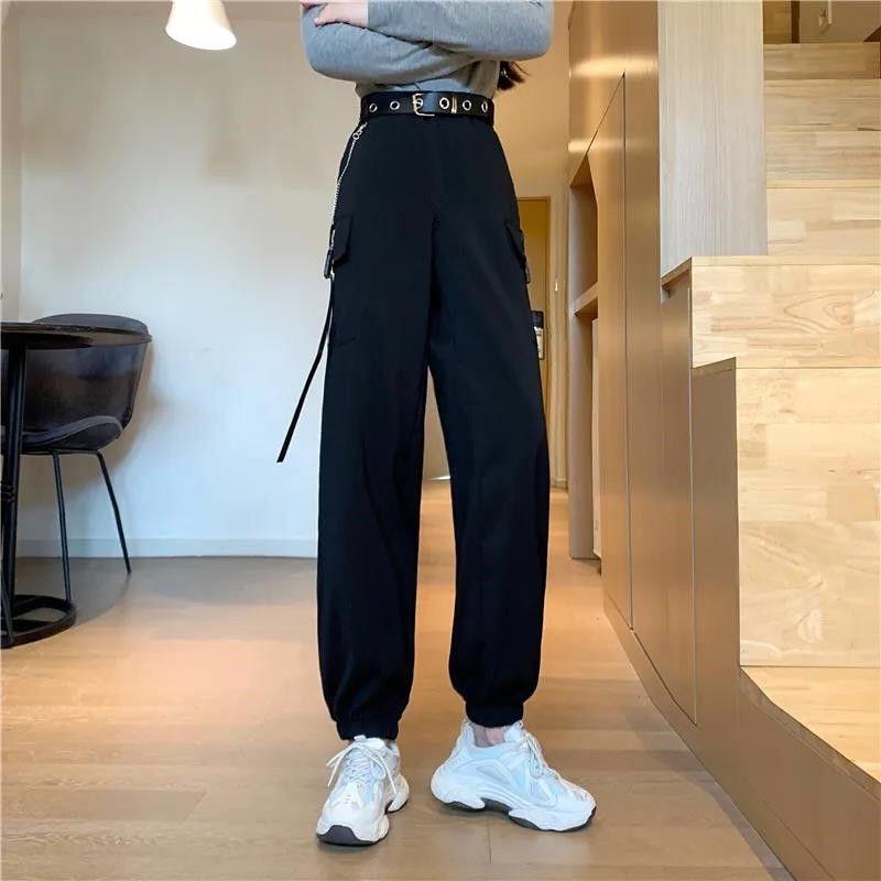 Deeptown Hiphop Cargo Pants Women Harajuku High Waist Pants Casual Pantalones De Mujer Korean Sweatpant Ins Joggers Trousers Buy At The Price Of 15 99 In Aliexpress Com Imall Com