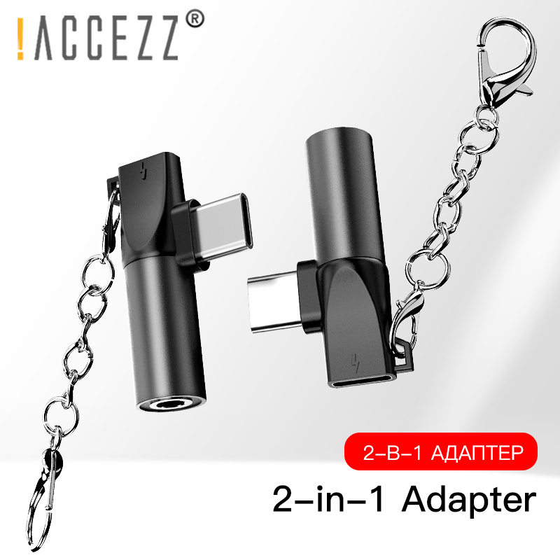 !ACCEZZ Mini USB Type C To 3.5mm Jack Adapter For Xiaomi Mi 8 6 Huawei P30 Pro Type-C OTG Charging Cable Jack Earphone Extension