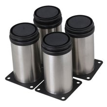 4pcs Adjustable Furniture Legs Thicken Stainless Steel 50x100mm Table Bed Sofa Cabinet feet foot legs With mounting screws