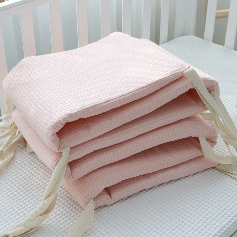 Crib Bumper Set Safe Cotton Cot Bumpers Vertical Padding Solid Baby Nordic Head Protector Boys Girls Room Decor Toddler Bedding