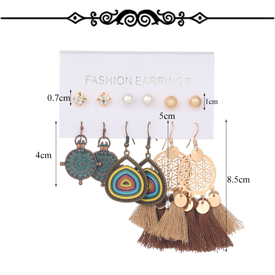 H47b57c3070d74a60b7c00c094043dafb5 - Multiple Women's  Boho Ethnic Drop Earrings