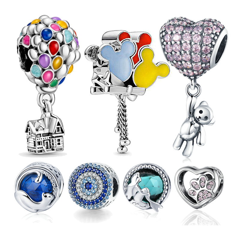 Pandora Bracelet Jewelry Balloon Beads Charms Ocean-Series DIY 925-Sterling-Silver Colorful
