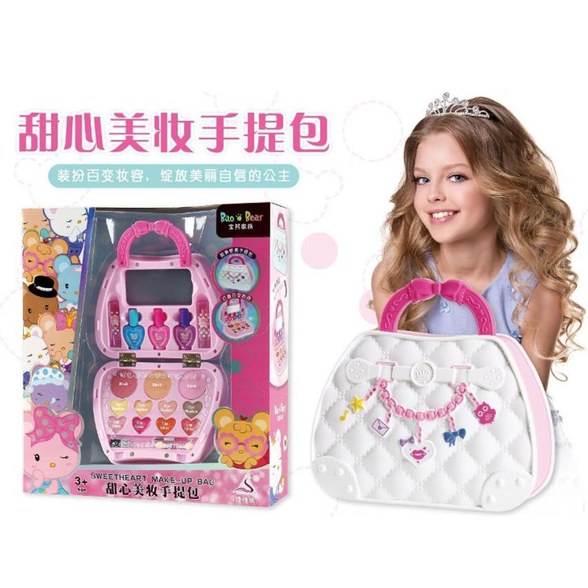 1pcs Girl makeup set water soluble makeup 68808 children's lipstick cosmetic gift box simulation girl play house toy