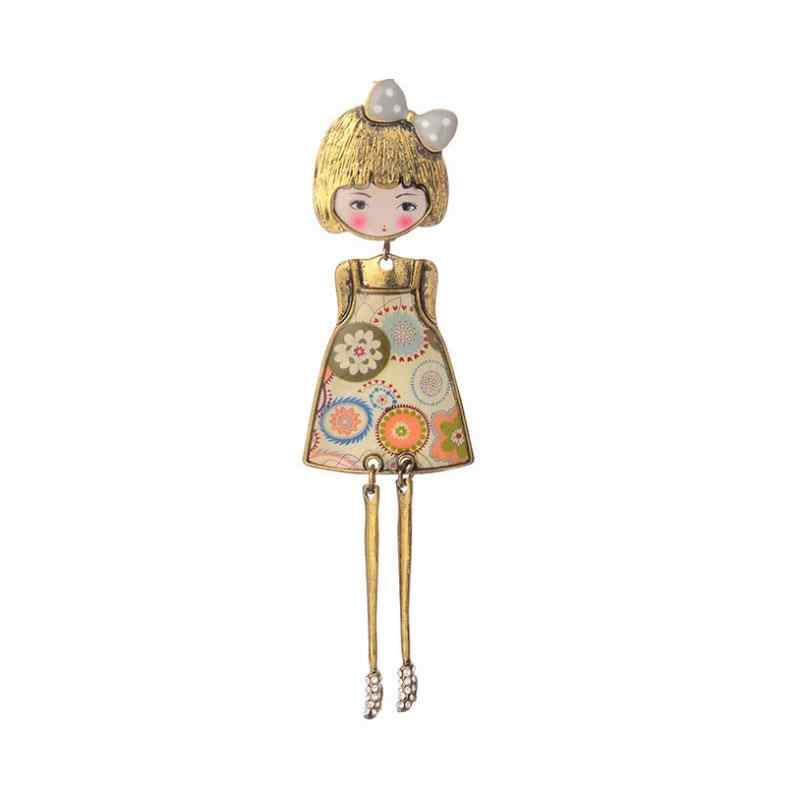 Cring Coco Wanita Fashion Perhiasan Bros Gadis Keren Lucu Bros Pin Kartun Lencana Di Ransel Pakaian Ikon Bros untuk Wanita