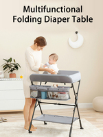 Multifunctional Changing Tables Baby Changing Clothes Diaper Massage Care Bed Foldable Height Adjustable Baby Bed Diaper Table