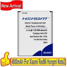 Hsabat bm45 4900 mah para xiaomi redmi nota 2 bateria vermelho arroz note2 para hongmi nota 2 baterias frete grátis