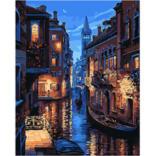 WEEN Night Venice-DIY Painting By Numbers, Acrylic Paint, Canvas For Wall Decoration Picture, Paint Numbers