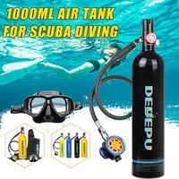 6 Stypes DEDEPU 1L Portable Scuba Diving Tank Oxygen Cylinder Dive Respirator Breath Valve Snorkeling Diving Equipment Set