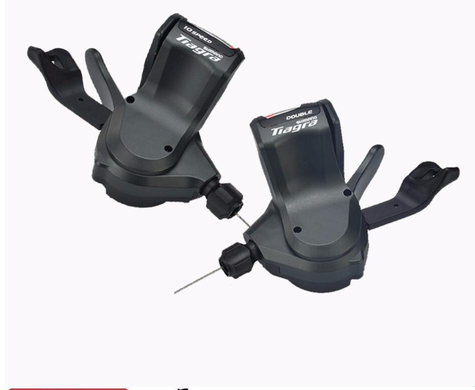 Shimano <font><b>Tiagra</b></font> 4700 Flat Bar 2x10 Speed Shifter Lever Set Left Right image