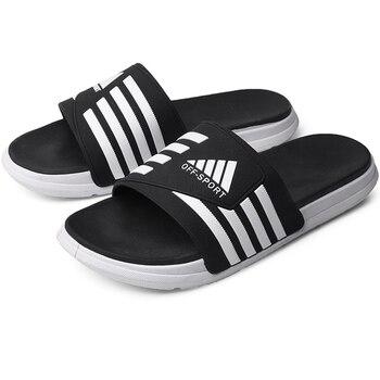 Брендовые мужские шлепанцы, обувь высокого качества на толстой нескользящей подошве, мужские сандалии, летние водонепроницаемые шлепанцы, ...