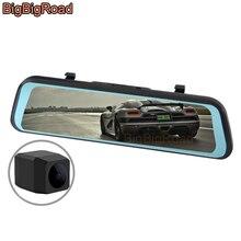 цена на BigBigRoad Car DVR Dash Camera IPS Touch Screen Stream RearView Mirror Video Recorder For Dodge Ram JCUV Charger Dart Durango