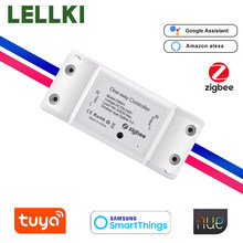 Tuya Zigbee 10A Light Button Switch Controller Smart Home DIY Switch Timer Remote Control With Hue Smartthings Alexa 10A