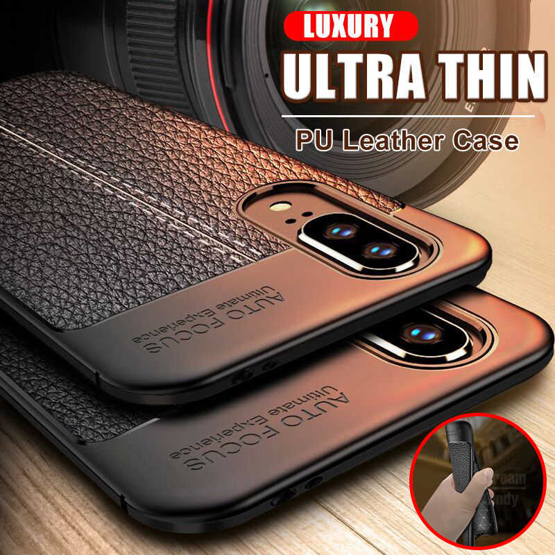 Funda de cuero Ultra fina para Huawei P20 P30 Mate 20 10 Lite a prueba de golpes para Honor 8 funda suave para teléfono x 10 20 Pro