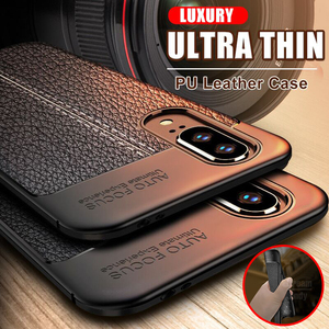 Luxury Ultra Thin Leather Case On The For Huawei P20 P30 Mate 20 10 Lite Shockproof Case For Honor 8x 10 20 Pro Soft Phone Cover(China)