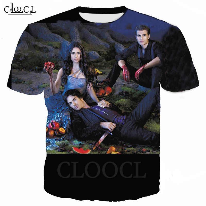 2020 The Vampire Diarie Women//Men  3d Print Casual T-Shirt Short Sleeve Tops Tee