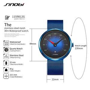 Image 4 - SINOBI Luft Auto Dashboard Neue Kreative Design herren Uhren Top Luxus Mann Quarz Handgelenk Uhren Männlichen Blau Uhr relogio masculino