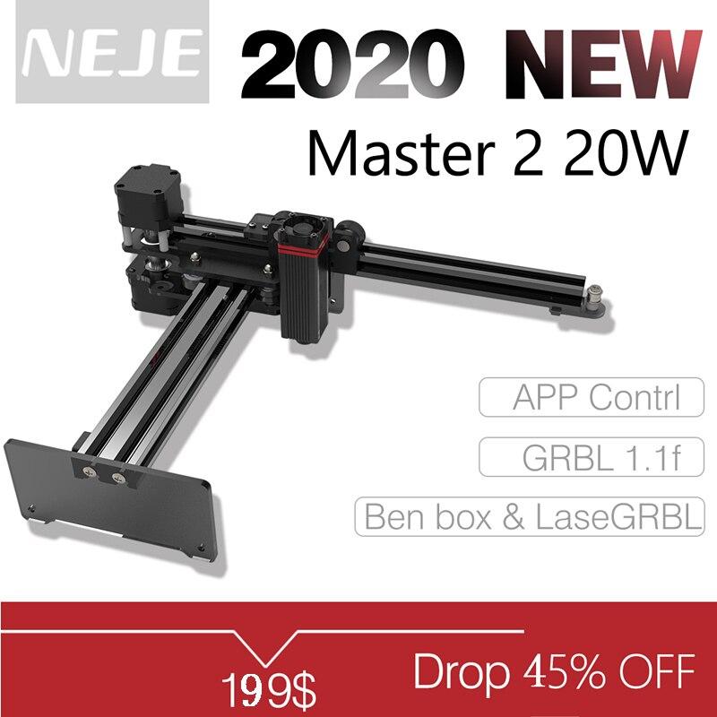 NEJE Master 2 20 Вт Настольный лазерный гравер и резак-Лазерная гравировальная и режущая машина-лазерный принтер-лазерный фрезерный станок с ЧПУ